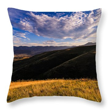 Colorado Landscape Throw Pillow by Jonathan Gewirtz