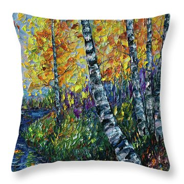Glimpses Of Colorado Fall Colors Throw Pillow