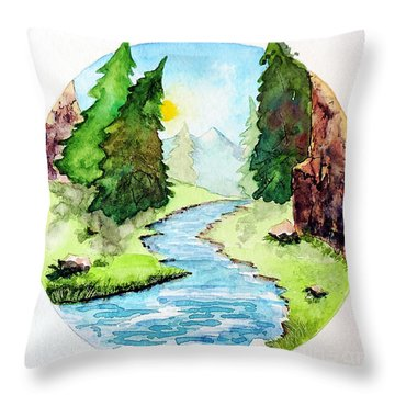 Colorado Marathon Logo Throw Pillow by Tom Riggs