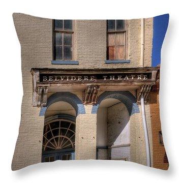 Belvidere Theatre Throw Pillow