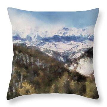 Colorado Mountains 4 Landscape Art By Jai Johnson Throw Pillow