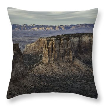 Throw Pillow featuring the photograph Colorado National Monument 2 by Bitter Buffalo Photography
