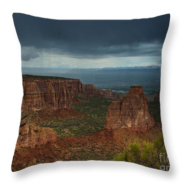 Colorado National Monument Storm National Park Throw Pillow