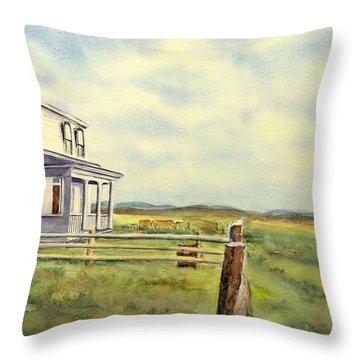 Colorado Ranch Throw Pillow