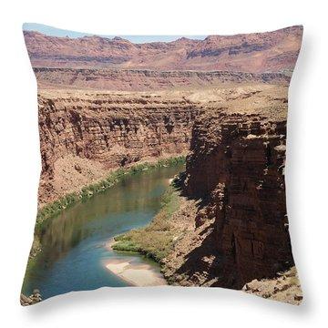 Colorado Red Throw Pillow