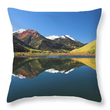 Throw Pillow featuring the photograph Colorado Reflections by Steve Stuller