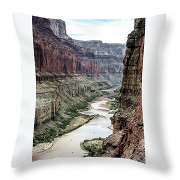 Colorado River And The East Rim Grand Canyon National Park Throw Pillow