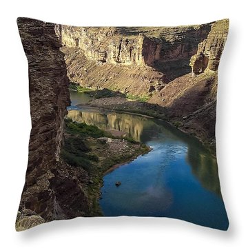Colorado River Grand Canyon National Park Throw Pillow