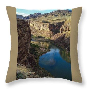 Colorado River Grand Canyon National Park Throw Pillow