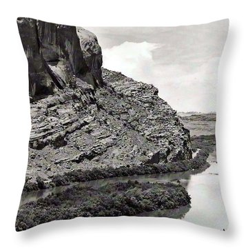 Throw Pillow featuring the photograph Colorado River by Juls Adams