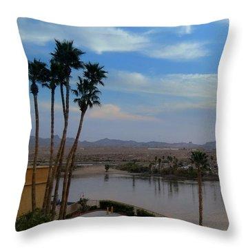 Colorado River View Throw Pillow