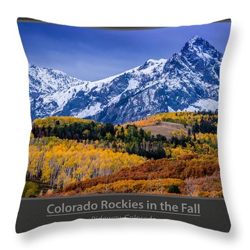 Colorado Rockies In The Fall - Ridgway Throw Pillow by Gary Whitton