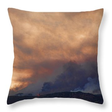 Colorado Rockies On Fire Throw Pillow by James BO  Insogna