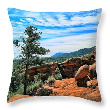 Colorado Rocks Throw Pillow by John Bushnell