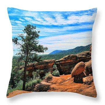 Colorado Rocks Throw Pillow