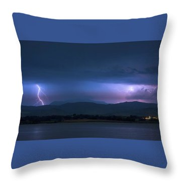 Throw Pillow featuring the photograph Colorado Rocky Mountain Foothills Storm by James BO Insogna