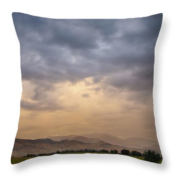 Throw Pillow featuring the photograph Colorado Rocky Mountain Foothills Storms by James BO Insogna