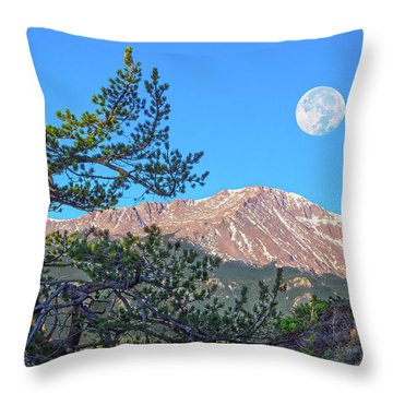 Colorado Rocky Mountain High, Just A Breath Away From Heaven Throw Pillow