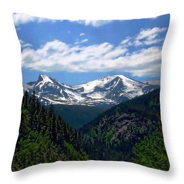 Colorado Rocky Mountains Throw Pillow