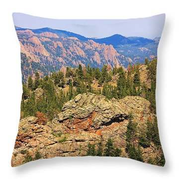 Throw Pillow featuring the photograph Colorado Rocky Mountains by Sheila Brown