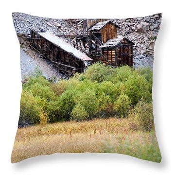 Colorado Silver Mine  Throw Pillow