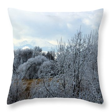 Colorado Springs Winter Throw Pillow