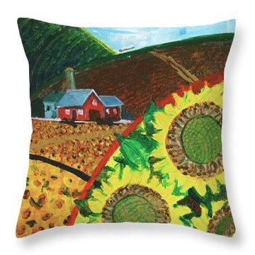 Colorado Sunflowers Throw Pillow