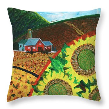 Colorado Sunflowers Throw Pillow