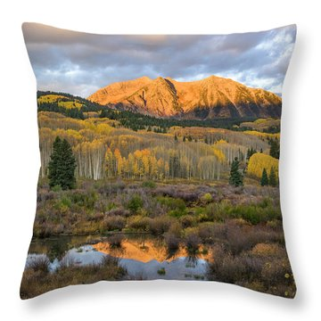 Colorado Sunrise Throw Pillow by Phyllis Peterson