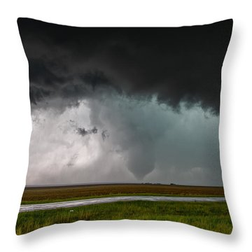 Colorado Tornado Throw Pillow