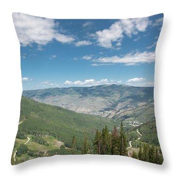 Colorado Vista From Trail To Beaver Lake Throw Pillow