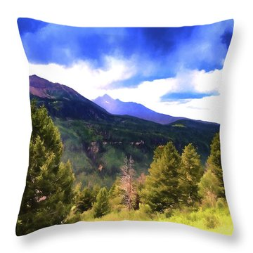 Colorado Watercolor Throw Pillow by James Bethanis