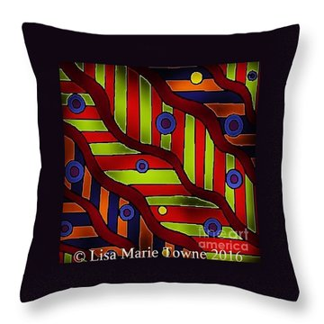 Colorblast 2 Throw Pillow