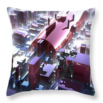 Colored Chrome Throw Pillow