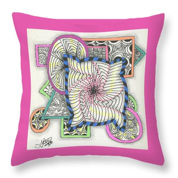 Colored Frames Throw Pillow