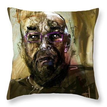 Colored Glasses Throw Pillow by Jim Vance