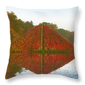 Colored Lake Pyramid Throw Pillow
