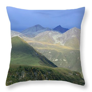Colored Peaks Of The Caucasus Throw Pillow