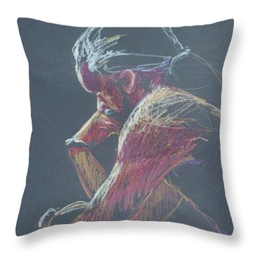 Colored Pencil Sketch Throw Pillow