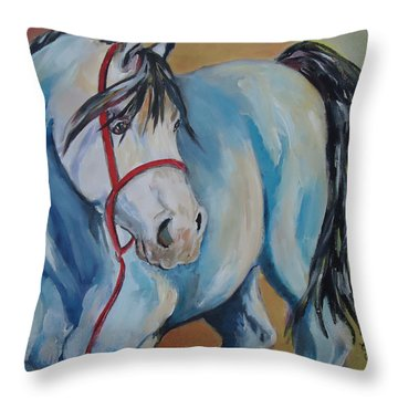 Colored Pony Throw Pillow