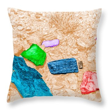 Colored Rocks 1 Throw Pillow by Bartz Johnson