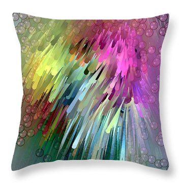 Throw Pillow featuring the digital art Colored Strokes By Nico Bielow by Nico Bielow