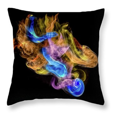 Throw Pillow featuring the photograph Colored Vapors by Rikk Flohr