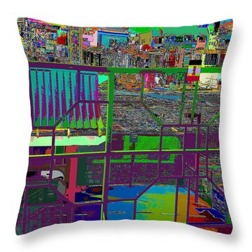 colorfication of Chinatown  Throw Pillow