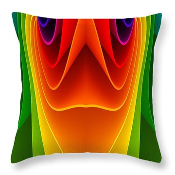 Colorful 3a Throw Pillow by Bruce Iorio