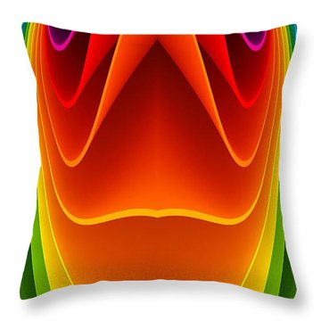 Colorful 3a1 Throw Pillow by Bruce Iorio