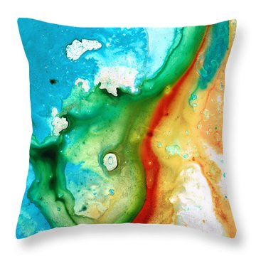 Colorful Abstract Art - Captured - By Sharon Cummings Throw Pillow