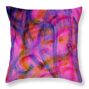 Colorful Abstract Throw Pillow by Natalie Holland