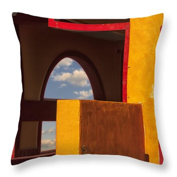 Colorful Adobe One Throw Pillow by Gary Warnimont