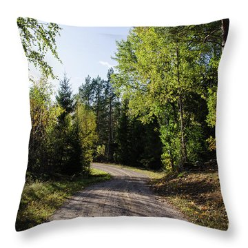 Throw Pillow featuring the photograph Colorful Adventure by Kennerth and Birgitta Kullman